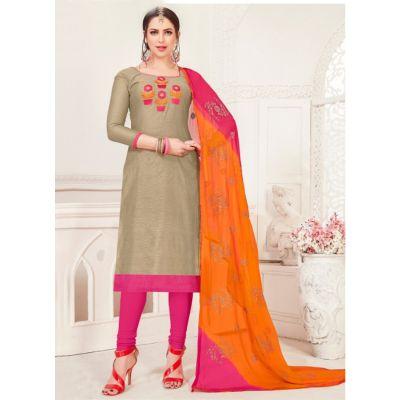 Women Salwar Kameez Grey Color Casual