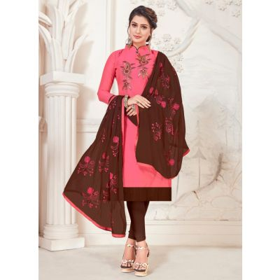 Women Salwar Kameez Pink Color Casual
