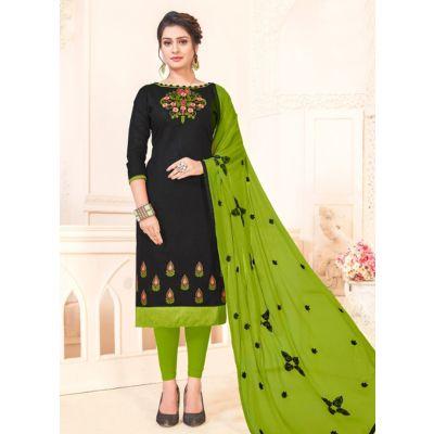 Women Salwar Kameez Black Color Party Wear