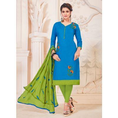 Women Salwar Kameez Blue Color Party Wear