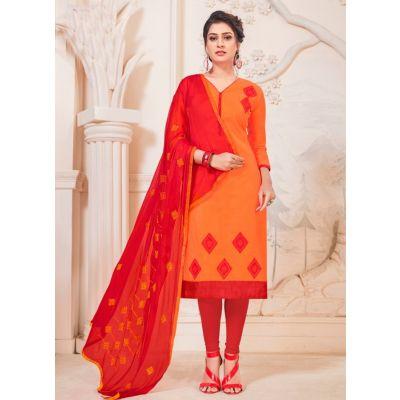 Women Salwar Kameez Orange Color Party Wear