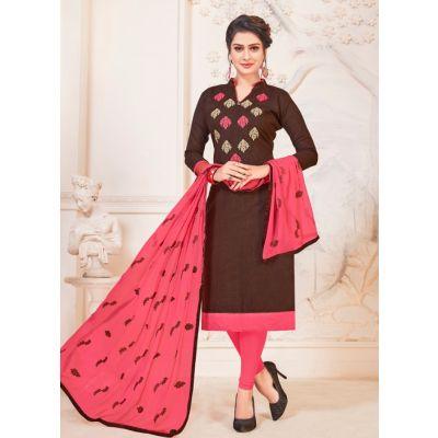 Women Salwar Kameez Brown Color Party Wear