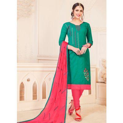 Women Salwar Kameez Green Color Party Wear