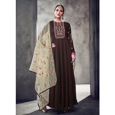 Women Gown Brown color Designer