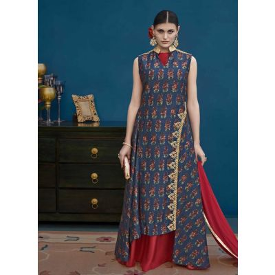 Women Salwar Kameez Blue color Designer