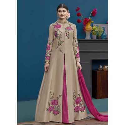 Women Salwar Kameez Brown color Designer