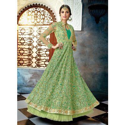 Women Salwar Kameez Anarkali Suits Green color