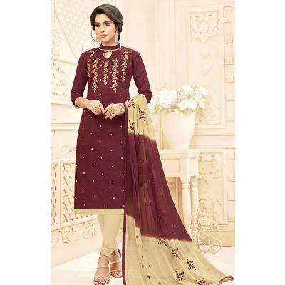 Women Salwar Kameez Brown color Straight Suits