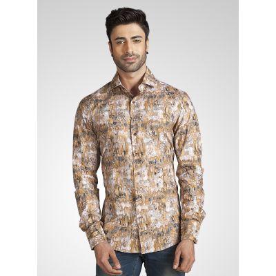 Beige color Shirts-Cotton Shirts