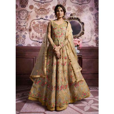 Women Salwar Kameez Beige color Party Wear
