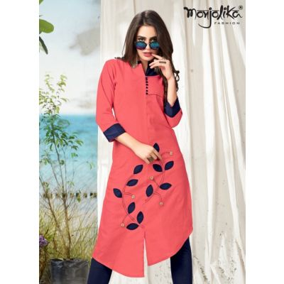 Women Ready Made Kurti Pink color Formal