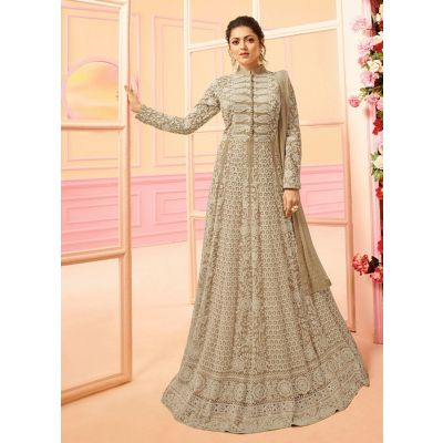 Women Salwar Kameez Designer Beige color