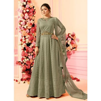 Women Salwar Kameez Designer Grey color