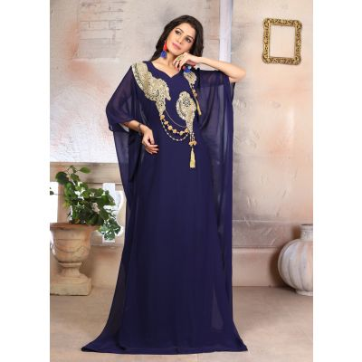 Woman Georgette Arabic Evening Gowns