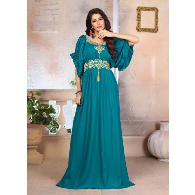 Woman Georgette Islamic Party Wear  Dress