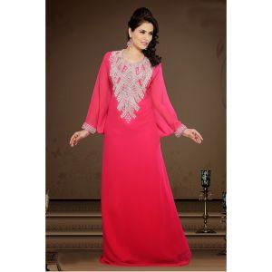 Tranquil Pink Color Faux Georgette Popular Kaftan-FINAL SALE