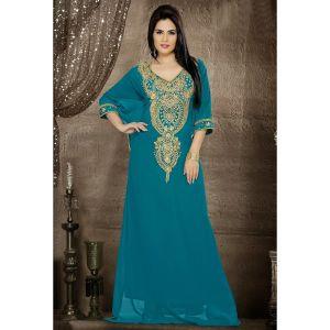 Womens Kaftan Blue color Modern Style