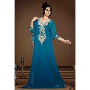 Womens Kaftan Green color Fashionable