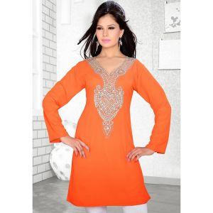 Womens Kurti Orange color Stylist