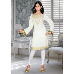 Womens Kurti Off White color Fashionable
