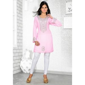 Womens Kurti Pink color Fancy style