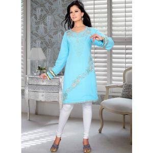 Womens Kurti Blue color Fashionable