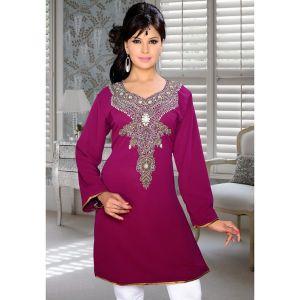 Womens Kurti Pink color Stylist