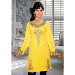 Womens Kurti Yellow color Modern Style