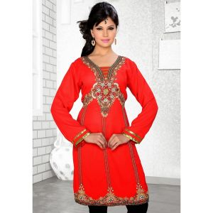 Womens Kurti Red color Stylist