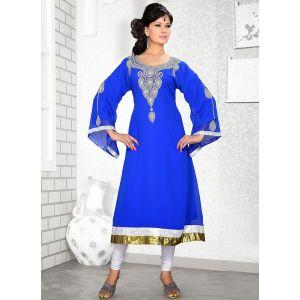 Womens Kaftan Blue color Partywear