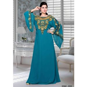 Green color Kaftan-Georgette Kaftan