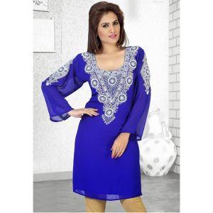 Dinky Royal Blue Color Popular Short Kaftan