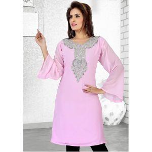Womens Kaftan Pink color Formal Dresses