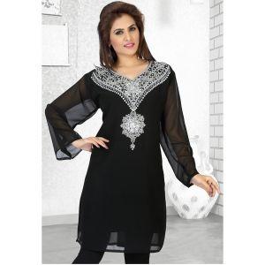 Womens Kaftan Black color Long Partywear