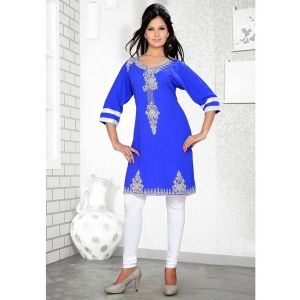 Womens Kurti Blue color Modern Style