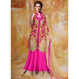 Pink color Wedding Lehnga Choli-Silk Lehenga Choli - FINAL Sale