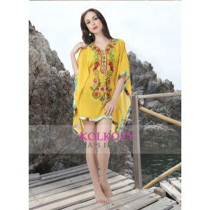 Yellow and Mulit Color Swimwear Bikini
