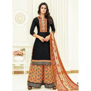 Women Salwar Kameez Black color Plazzo Suits