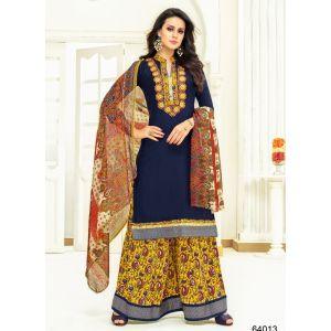 Women Salwar Kameez Multicoloured color Plazzo Suits