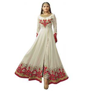 Gorgeous White Georgette Salwar Kameez