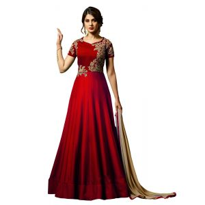 Splendorous Red Designer salwar suit