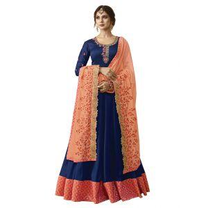 Georgette Vivacious Blue Salwar Kameez