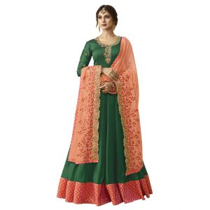 Embroidery Exquisite Green Salwar Suit