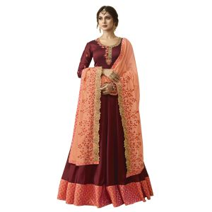 Majesty Red Anarkali Salwar Kameez