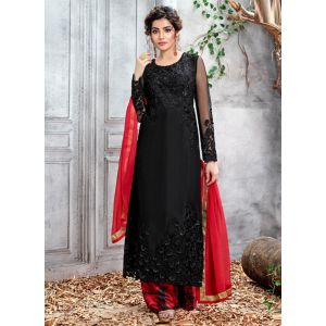 Sparkling Black Color Churidar salwar Suit