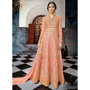 Charming Anarkali salwar Suit in Rose Pink