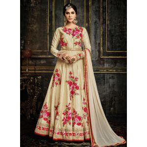 Off White Color Designer Anarkali salwar Suit