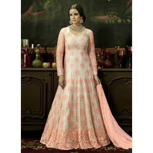 Designer Pink Shaded salwar kameez