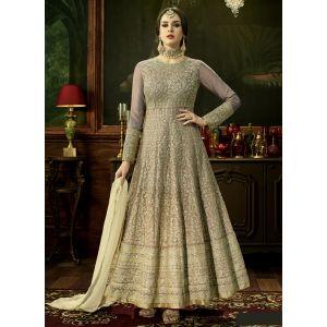 Designer Beige Color Anarkali salwar kameez