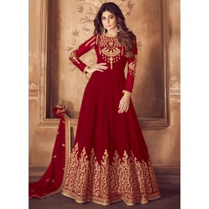 Fastive Wear Red Designer Salwar Suit